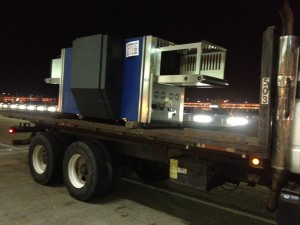 X-ray machine moved at Dulles Airport