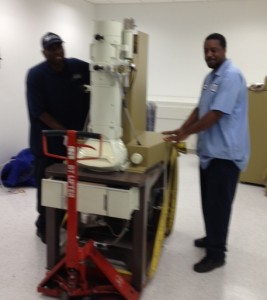 2,000 pound electron massive miscroscope at George Washington University Hospital