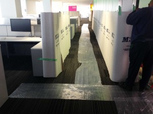 Wall and Floor Protection During Move Successful Office Move